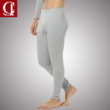 CILER 100% Cottton thermal underpants Long Johns Warm Pants Male Single Pant for Autumn and Winter Size from L-3XL Leggings