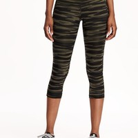 Go-Dry Cool Compression Crops for Women   Old Navy