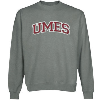 Maryland Eastern Shore Hawks Arch Name Sweatshirt - Gunmetal