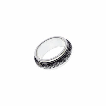 Men's Cobra Sterling Silver Spin Ring