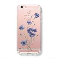 Wild Flower iPhone 6 Case, iPhone 6s Plus Case, Galaxy S6 Edge Clear Hard Case C073