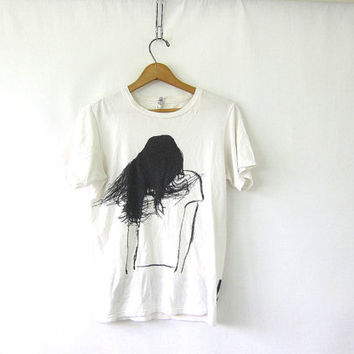 Vintage black and white BASSNECTAR tshirt / music tshirt / thin cotton tee shirt