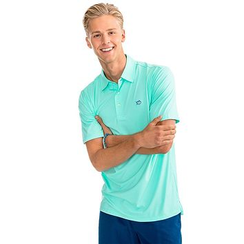 Heathered Driver Performance Polo in Offshore Green by Southern Tide