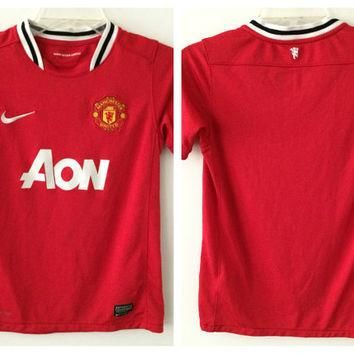 Sale!! Nike Manchester United Home Soccer Jersey Mufc Football Shirt Size Boys Medium