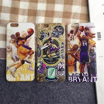 nba basketball superstar edition kobe bryant transparent cell phone cases for apple iphone 6 6s 6plus 6s plus clear back cover  number 1