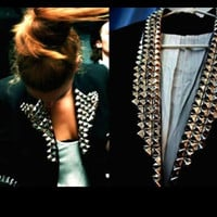 Studded Black Blazer