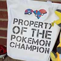 Property of the Pokemon Champion Tote Bag