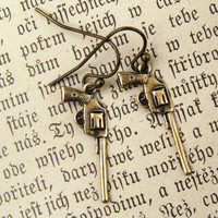 Brass Gun Earrings - $10.50 : RagTraderVintage.com, Vintage Reborn!