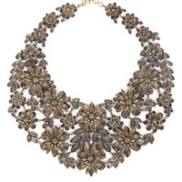 Red BCBG Floral Statement Necklace