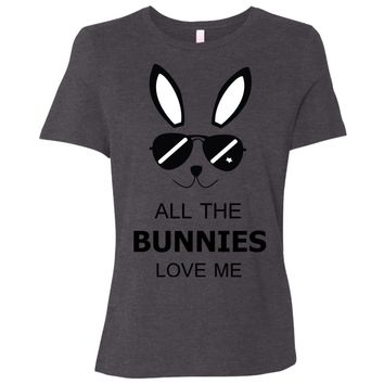 All the Bunnies love me funny bunny t-shirts