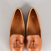 Lily-45 Tassel Round Toe Loafer Flat