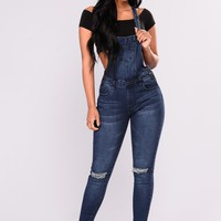 Browyn Overalls - Dark Blue