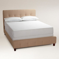 Oatmeal Draper Upholstered  Bed - World Market