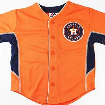 Houston Astros MLB Kids 4-7 Team Batting Practice Jersey Orange (Kids Medium 5/6)