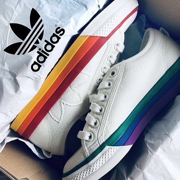 Adidas PRIDE NIZZA Fashion New Canvas Women Men Running Shoes 3#