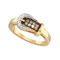 Diamond Fashion Ring in 10k Gold 0.24 ctw