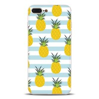Cute Pineapple Case Cover for iPhone X 8 6S 7 Plus &Gift Box