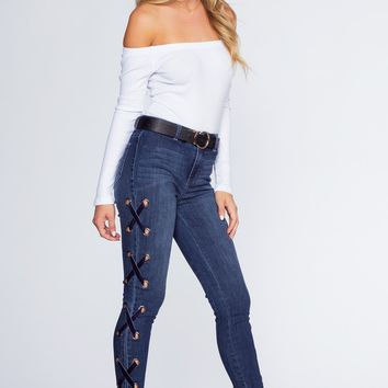 Lennox Lace Up Jeans