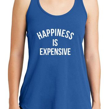 Women's Happiness is Expensive Graphic New Era Heritage Blend Racerback Tank Tops for Regular and Plus - XS ~ 4XL