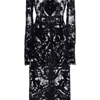 Long Sleeve Embroidered Dress | Moda Operandi