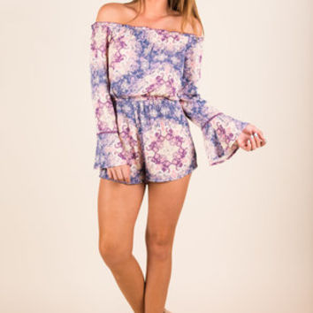 Going The Distance Romper, Violet