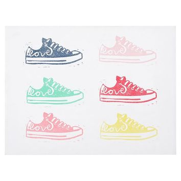TENNIS SHOE CANVAS ART