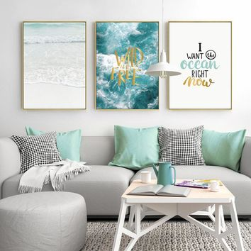 Wall Art Canvas Painting Seascape Posters And Prints Cuadros Decoracion Wall Pictures For Living Room Nordic Poster Unframed