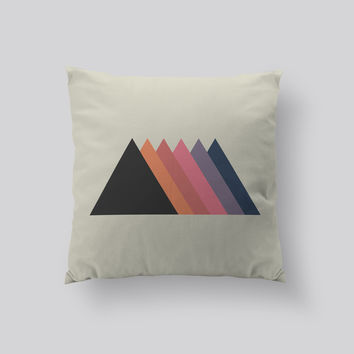 Throw Pillows for Couches / Triangles by Leftfield_Corn