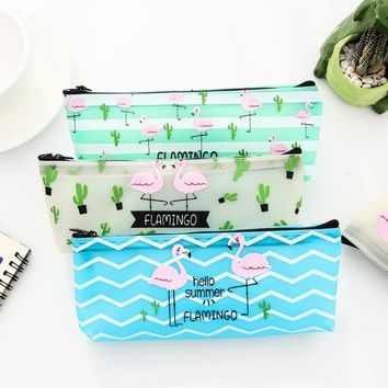 Flamingo Love - Silicone Waterproof Bag