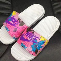 NIKE Women Men Casual Fashion Print Sandal Slipper Shoes