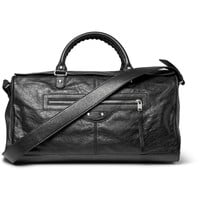 Balenciaga - Squash Creased-Leather Holdall