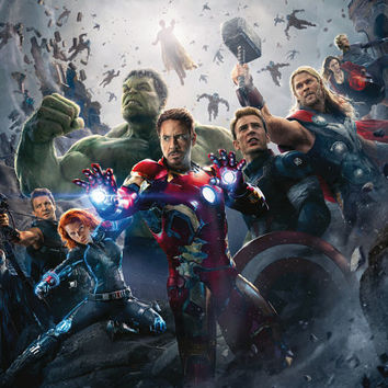 Avengers: Age of Ultron Iron Man Captain America  Hulk Poster 24x18