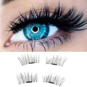 1 Pair 3D Magnetic False Eyelashes Lashes Reusable False Magnet