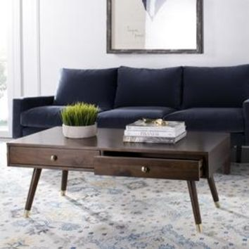 Shop Safavieh Levinson Brown Rubber Coffee Table at Lowes.com