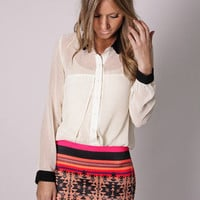 Esther Boutique - manly pattern mini skirt- coral pattern