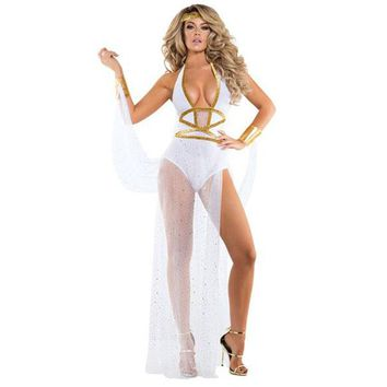 New Women Sexy Greek Goddess Cosplay Costumes Adult Sexy Roman goddess Costume for Halloween ladies Cleopatra Role play dress