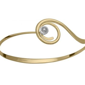 Ed Levin 14kt Gold and Sterling Silver Bindu Bracelet