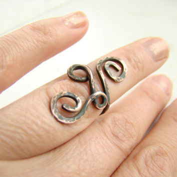 Coper Ring Hand made Small copper ring on the foot finger Ring on the finger phalanges