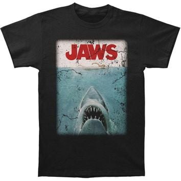 Jaws Men's  Jaws Poster T-shirt Black Rockabilia