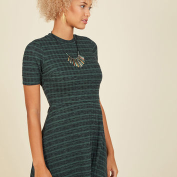 Knit's a Date! A-Line Dress | Mod Retro Vintage Dresses | ModCloth.com
