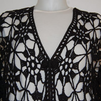 Black Lace Jacket L/XL FREE US Shipping by lacasa110 on Etsy