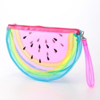 Transparent Seetrough watermelon Cybergueisha vaporwave wallet