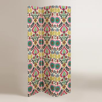 Moroccan Boho Medallion Upholstered Room Divider Screen