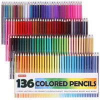 Set of 136 Premium Colored Writing Drawing Pencils