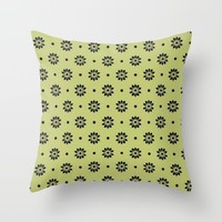 green wildlife Throw Pillow by Pink Berry Patterns