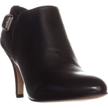 Vince Camuto Vayda Ankle Booties, Black Leather, 11 US / 41 EU