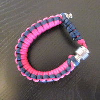 Bracelet style pink and black color smoking pipe