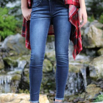 Skinny Jean with Rough Hem