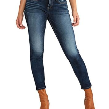 Silver Jeans Suki Ankle Skinny Jeans Rinse Wash