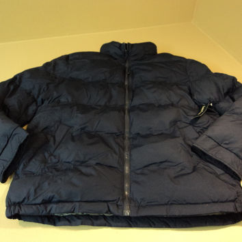 Faded Glory Bubble Jacket Puffer 100% Polyester Male Adult Medium 38-40 Blues -- New With Tags